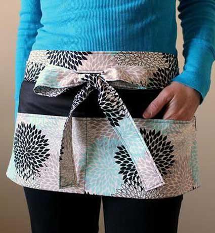 sewing craft half apron
