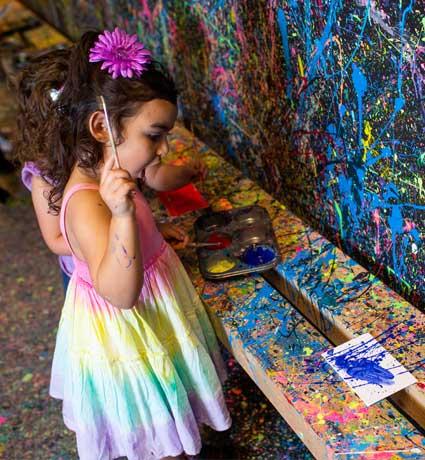painting for kids splatter room kids event